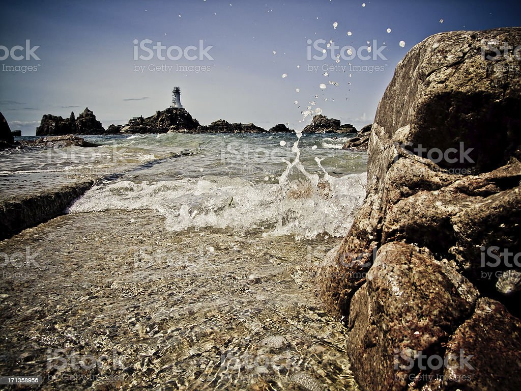 Corbiere Lighthouse, Jersey, Channel Islands stock photo