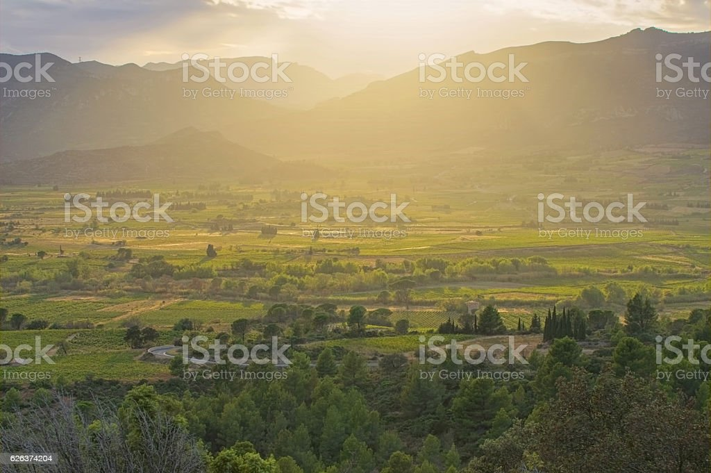 Corbieres, rural landscape in southern France stock photo
