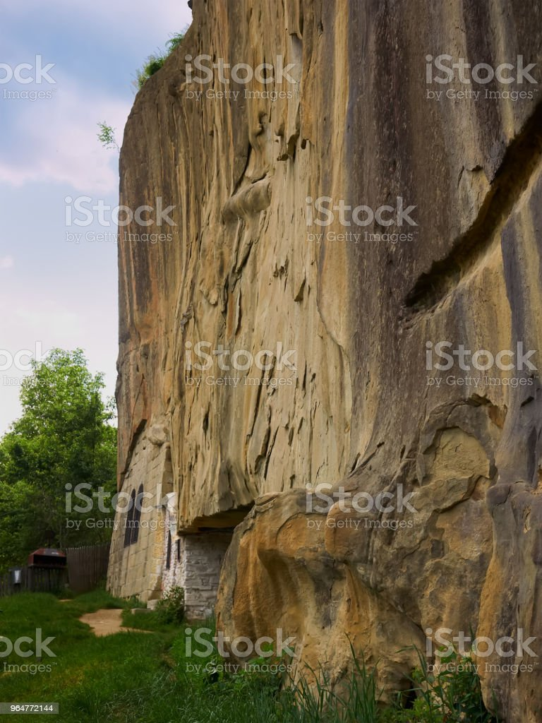 Corbii de Piatra (Stone Ravens) monastery in Arges county, Romania royalty-free stock photo
