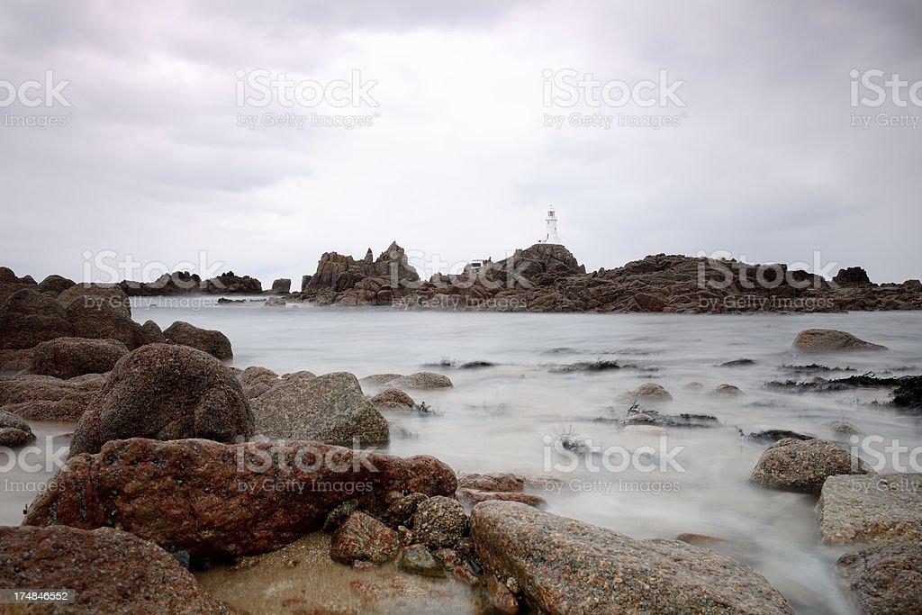 Corbière lighthouse. stock photo