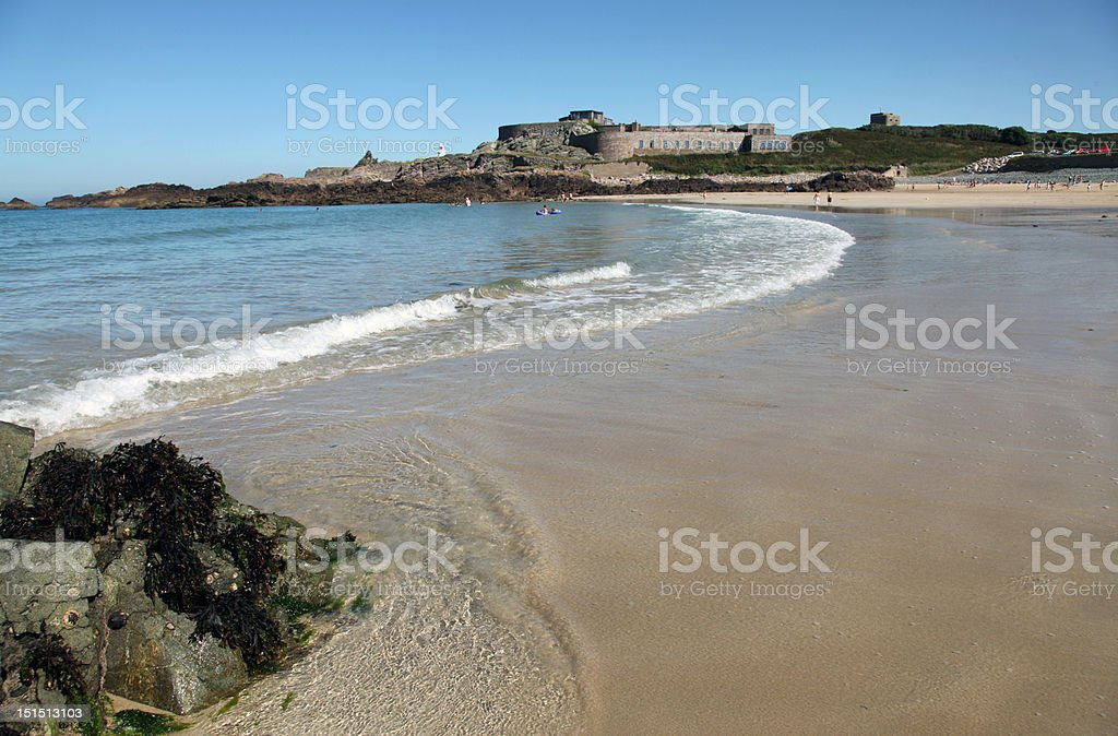 Corblets beach, Alderney, Channel Islands - Royalty-free Beach Stock Photo