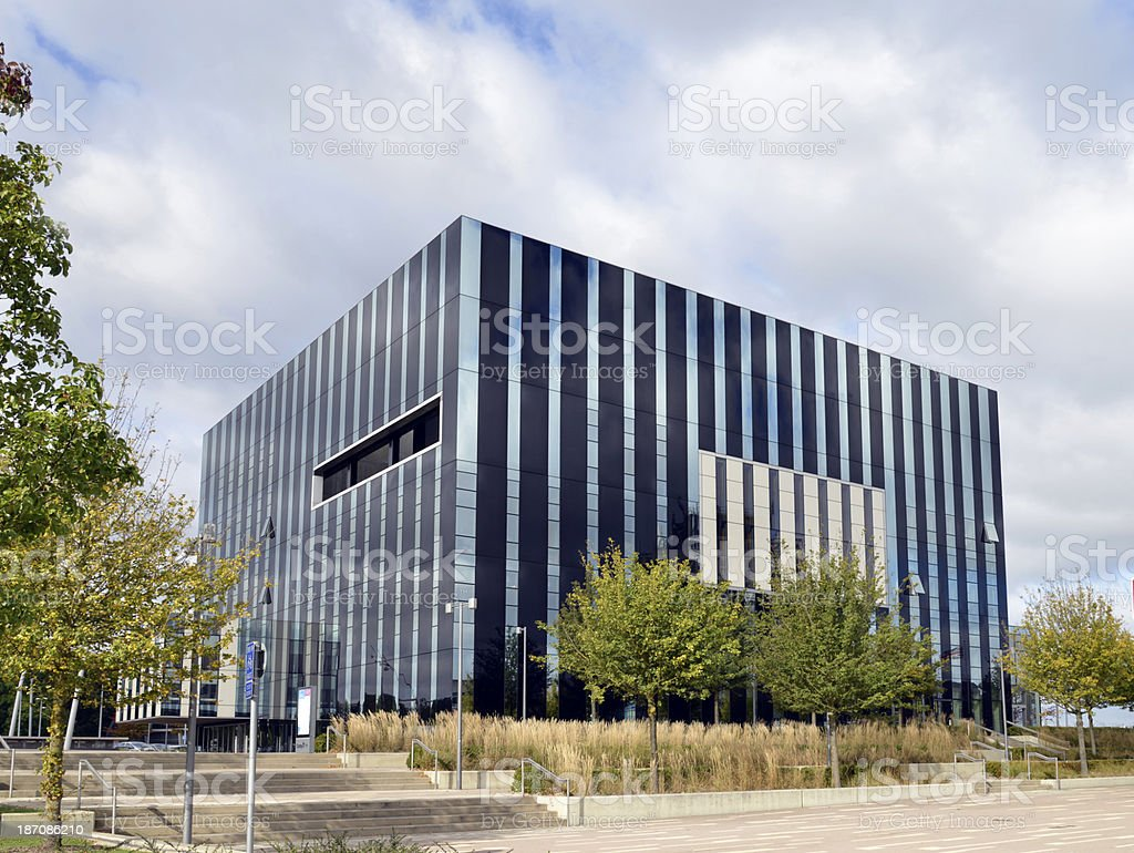 Corby cube. Northamptonshire. stock photo