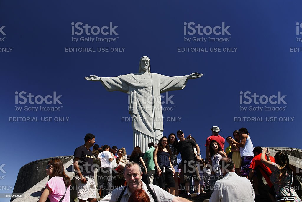 Corcovado in Rio de Janeiro royalty-free stock photo