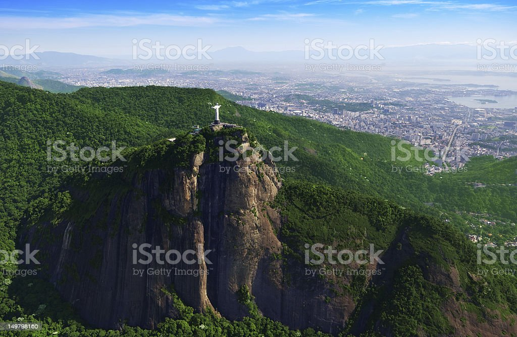 Corcovado Mountain and Christ the Redeemer royalty-free stock photo