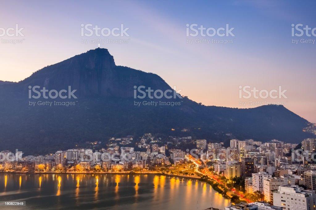 Corcovado mountain royalty-free stock photo