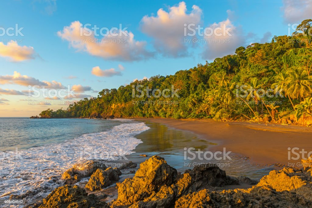 Corcovado National Park Sunset stock photo