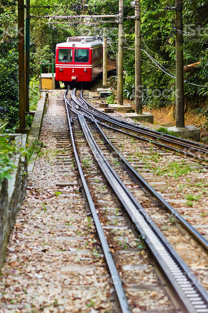 Corcovado train stock photo