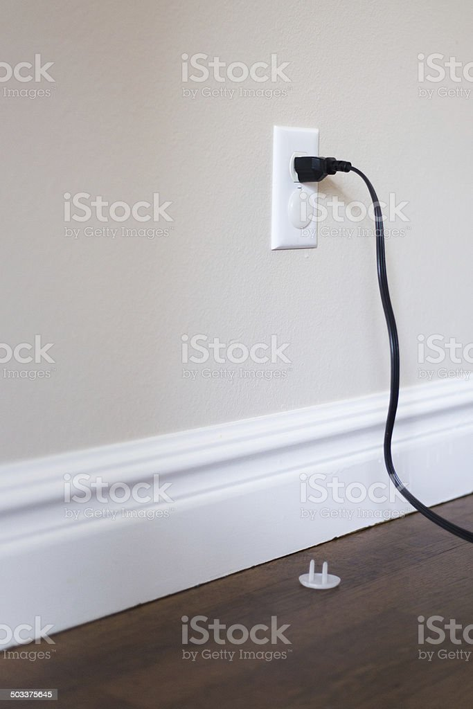 Cord in a Socket stock photo
