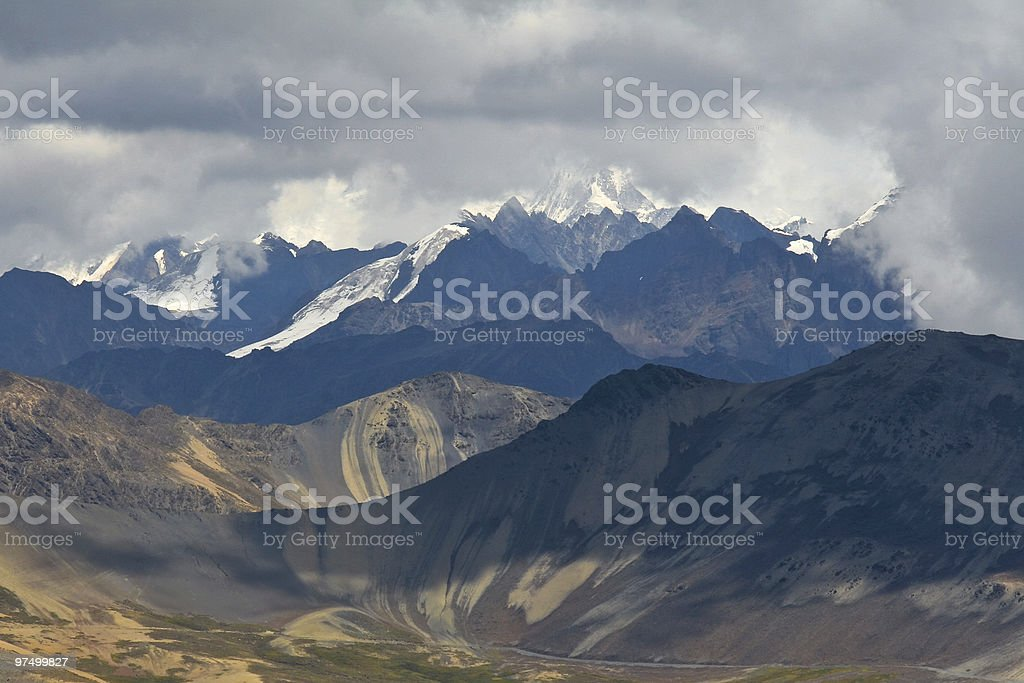 Cordillera Real in Bolivian Andes royalty-free stock photo