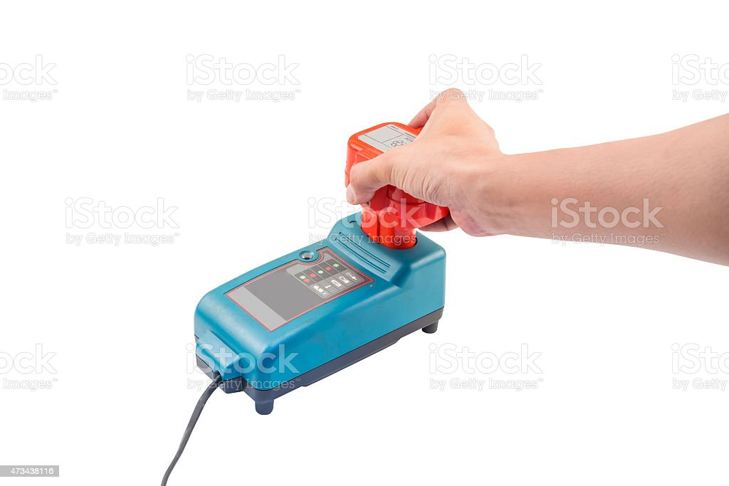 Cordless Drill Battery Charger stock photo