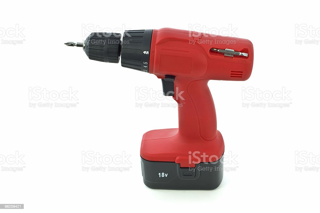 Cordless drill royalty-free stock photo