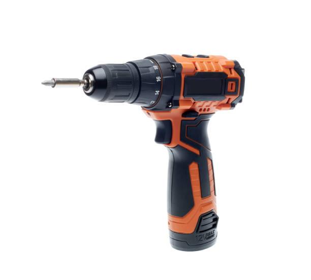 Cordless drill screw gun stock photo