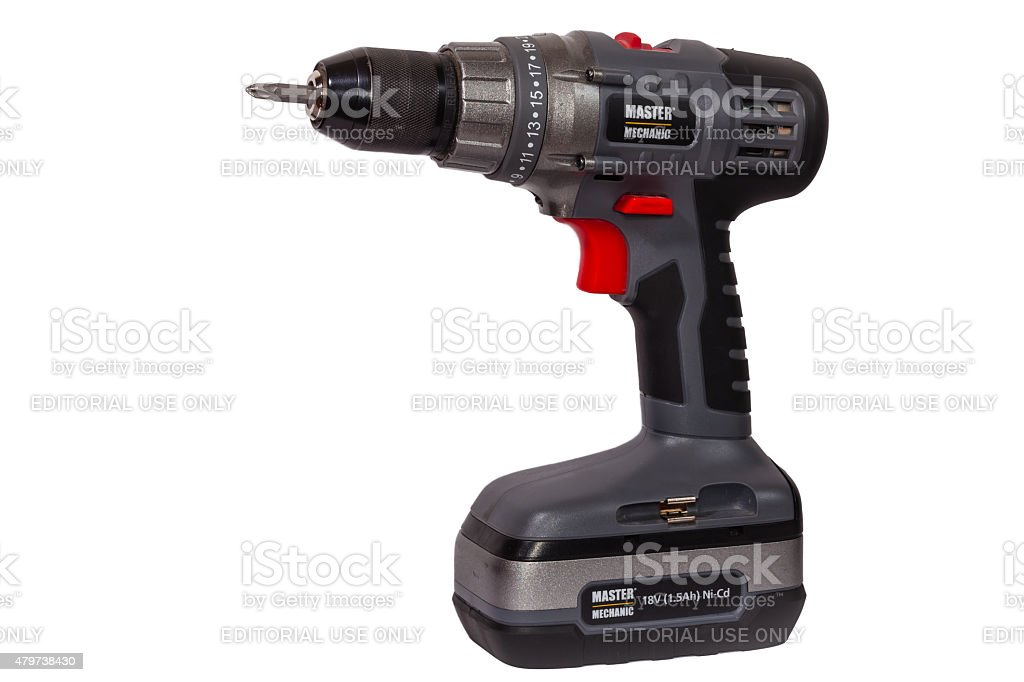 Cordless Master Mechanic 18V Drill-Driver - isolated stock photo