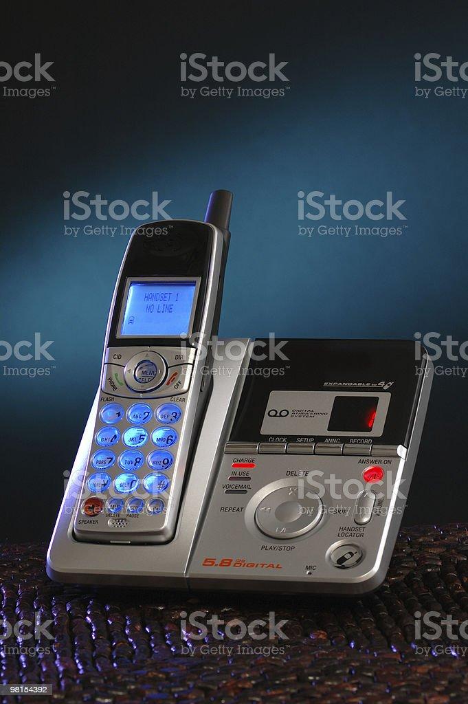Cordless Phone and Digital Answering Machine royalty-free stock photo