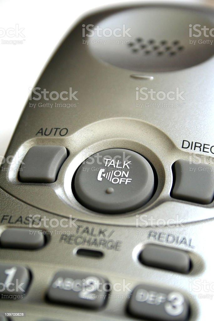 Cordless Phone Close-up royalty-free stock photo
