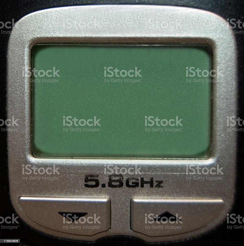 Cordless Phone LED Screen With Copy Space stock photo