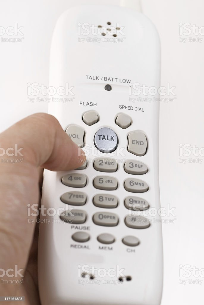 Cordless Phone. stock photo