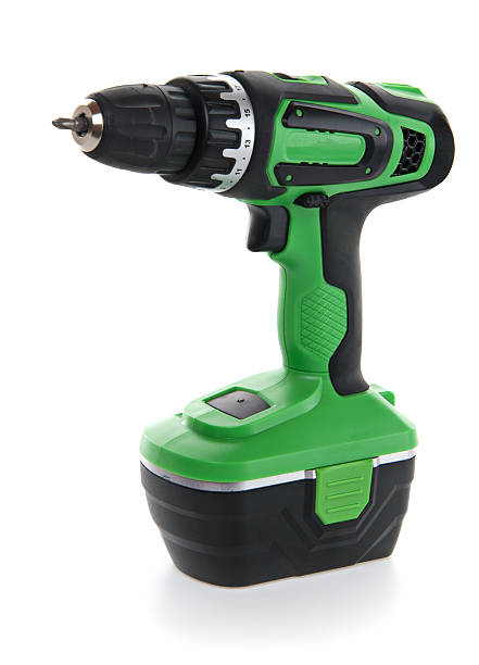 Cordless Power Drill with Small Bit Work Tool Power Drill with Small Bit cordless phone stock pictures, royalty-free photos & images