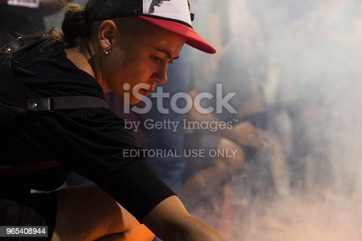Cordoba Argentina November 17 2017 Girl Ignites Fire In Social Protest Stock Photo & More Pictures of Adult