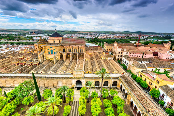 Cordoba - Cathedral Mezquita, Andalusia, Spain Cordoba, Andalusia, Spain. Mezquita Cathedral, The Great Mosque, medieval arab and spanish landmark. cordoba mosque stock pictures, royalty-free photos & images