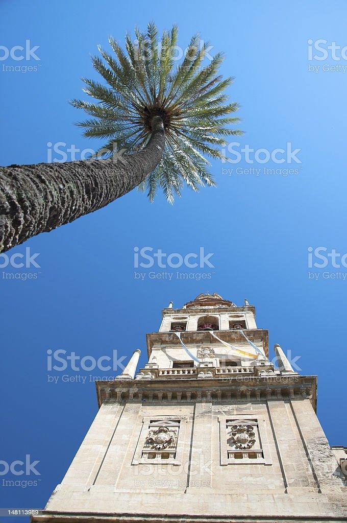 Cordoba, la Mezquita: The Alminar Tower royalty-free stock photo