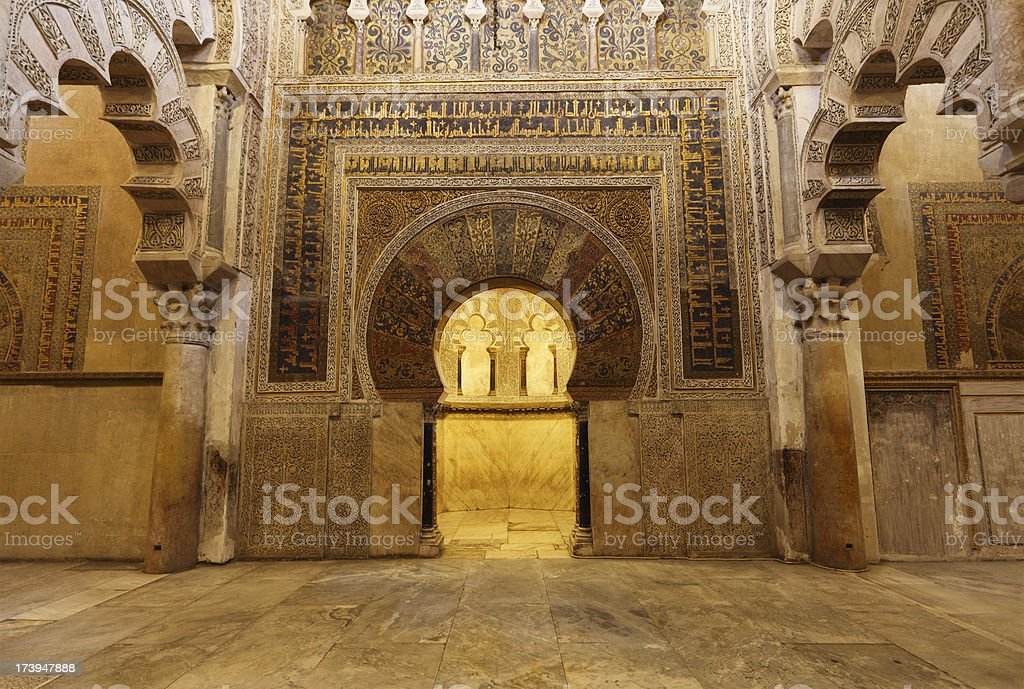Cordoba Mezquita mosque mihrab stock photo