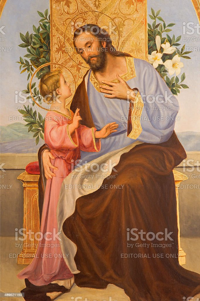 Cordoba - Paint of St. Joseph stock photo