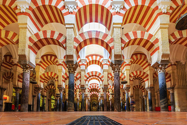 Cordoba, Spain Cordoba, Spain - September 29, 2016: Interior view of La Mezquita Cathedral in Cordoba, Spain. Cathedral built inside of the former Great Mosque. cordoba spain stock pictures, royalty-free photos & images