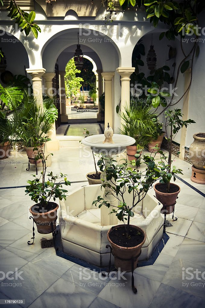 Cordobian patio royalty-free stock photo