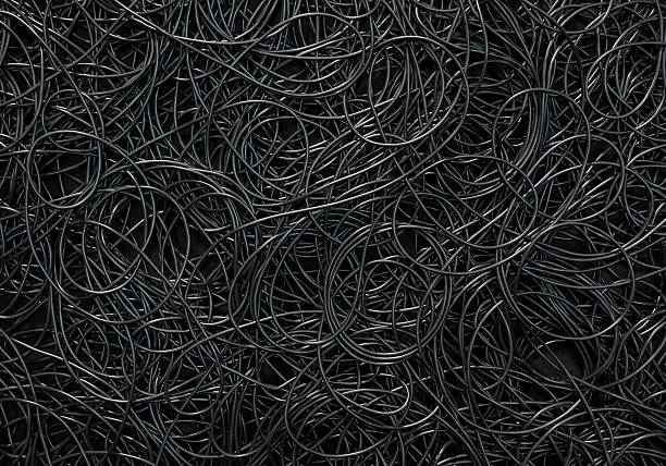 cords background - tangled stock photos and pictures