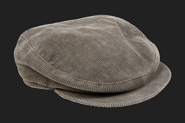 Corduroy cap stock photo
