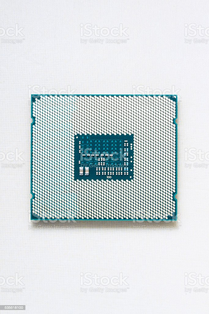 Core of cpu stock photo