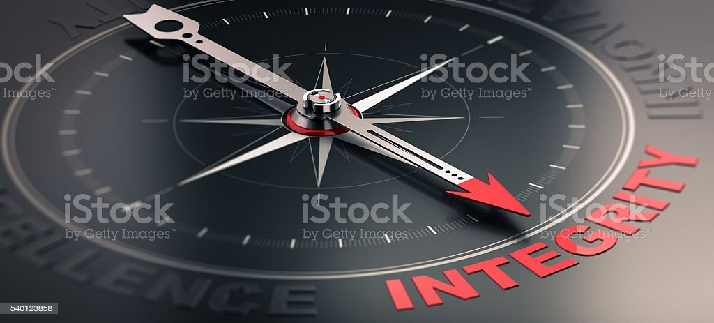 Core value - Integrity stock photo
