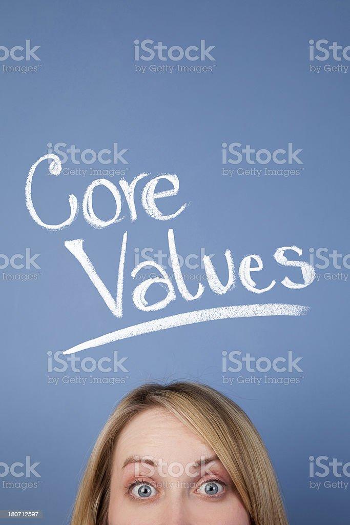 Core Values royalty-free stock photo