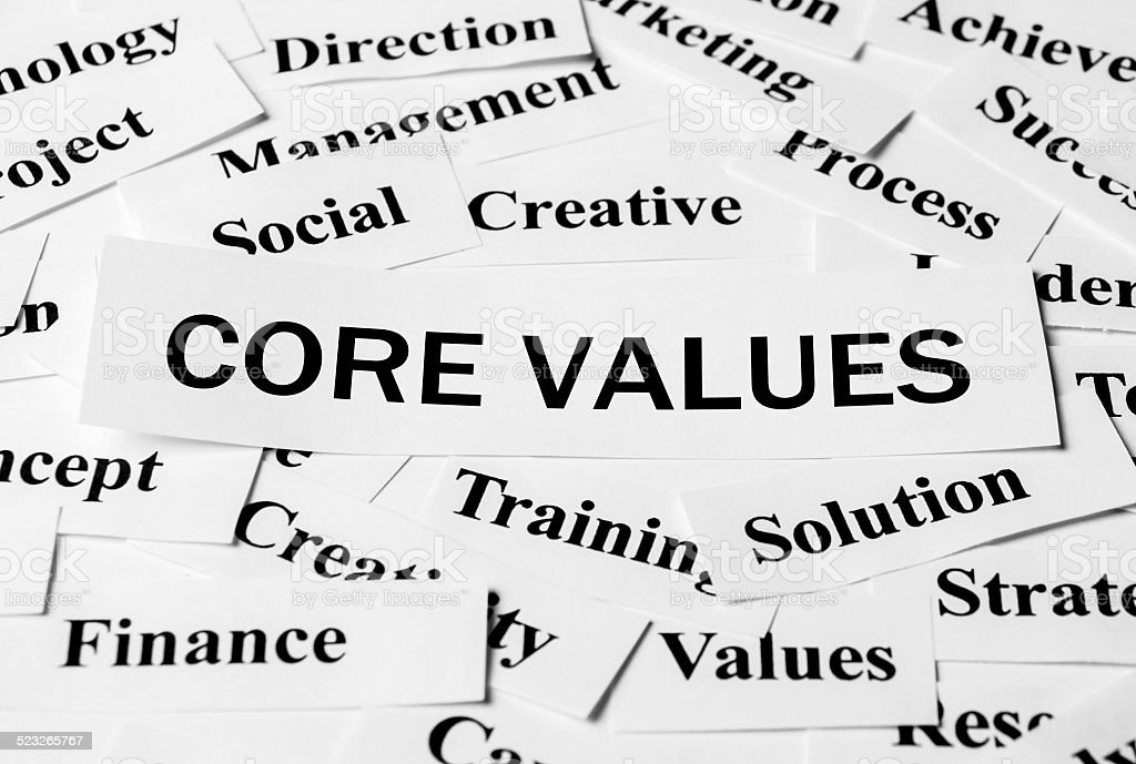 Core Values stock photo