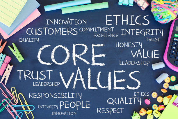core values - responsible business stock photos and pictures