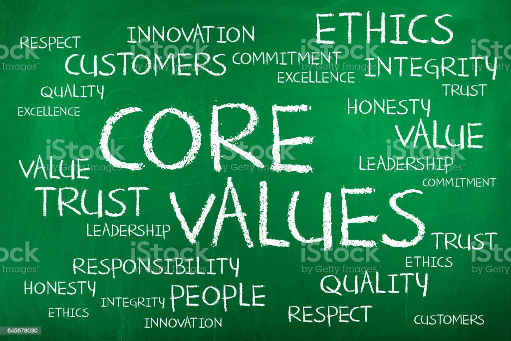 Core Values stock photo