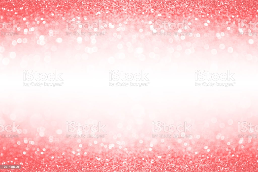 Corel Pink And Peach Glitter Background Border Banner
