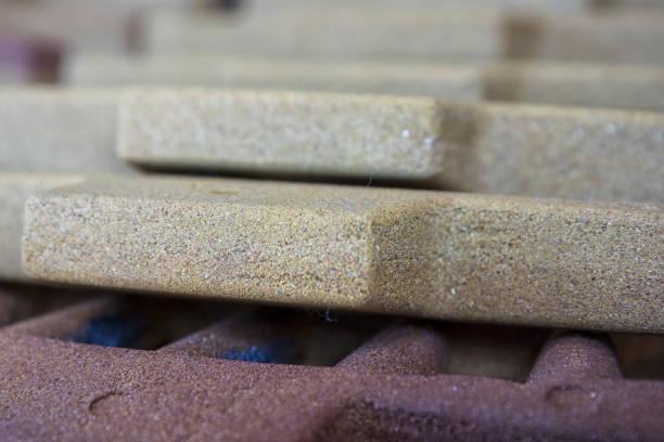Corazones de arena recubierto de resina - foto de stock