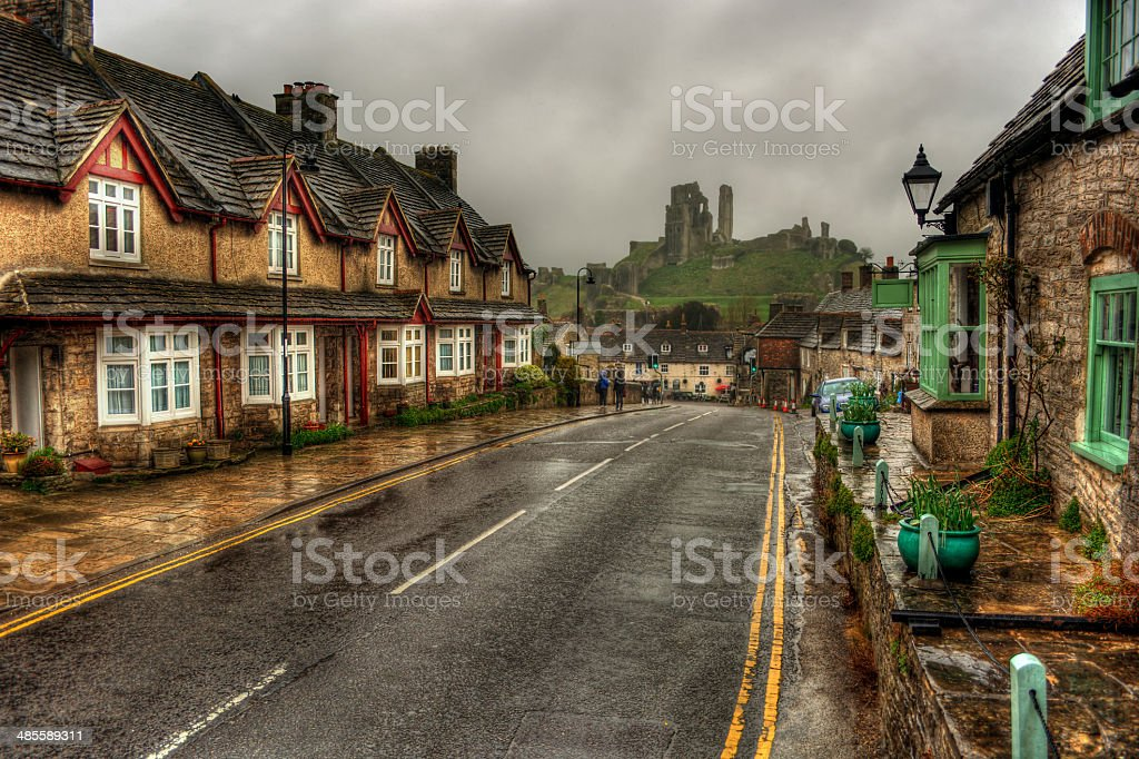 Corfe Castle HDR stock photo