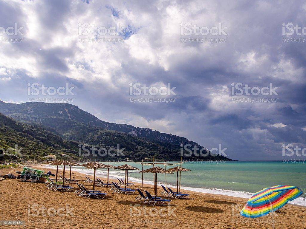 Corfu - Agios Georgios beach stock photo