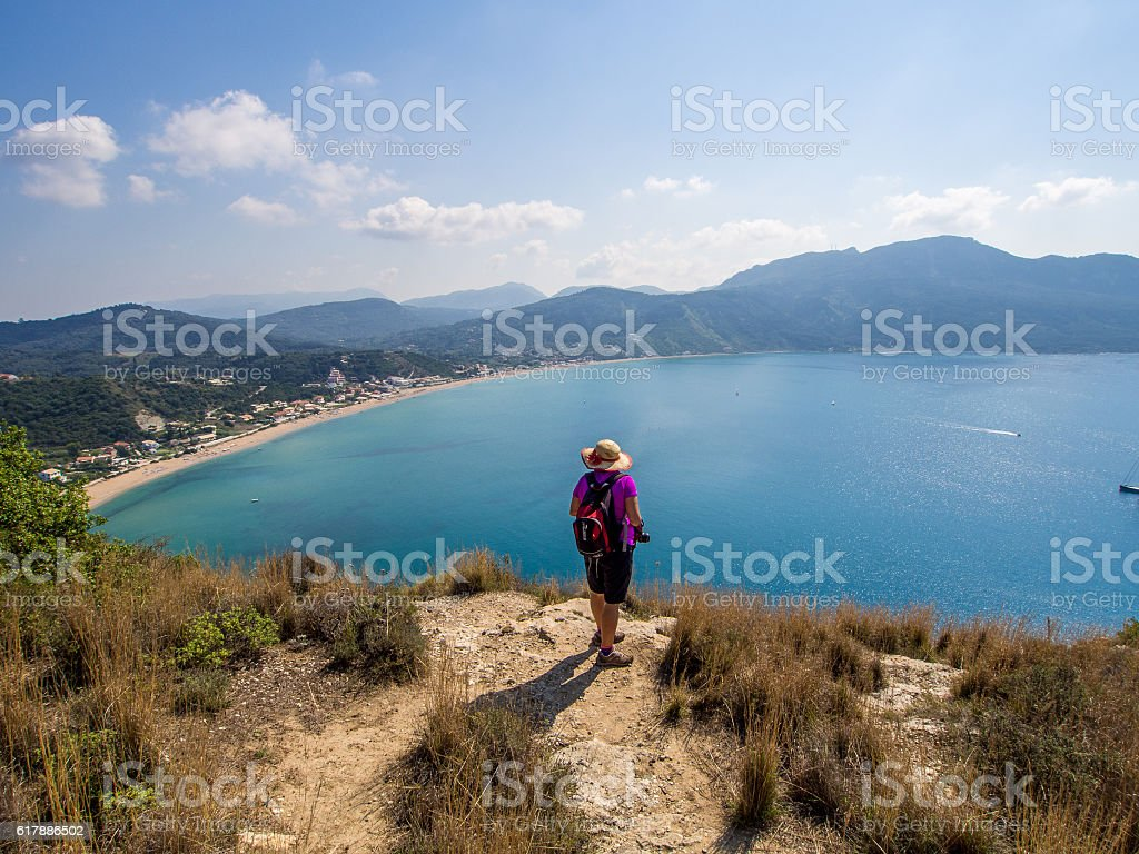 Corfu - Agios Georgios coastline stock photo