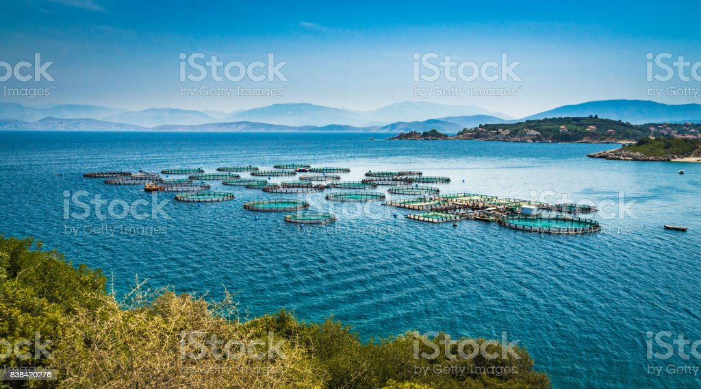 Corfu circles stock photo