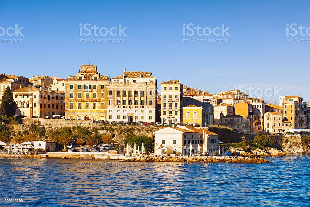 Corfu city, Greece stock photo
