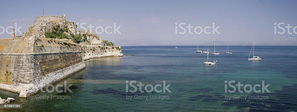 Corfu city royalty-free stock photo