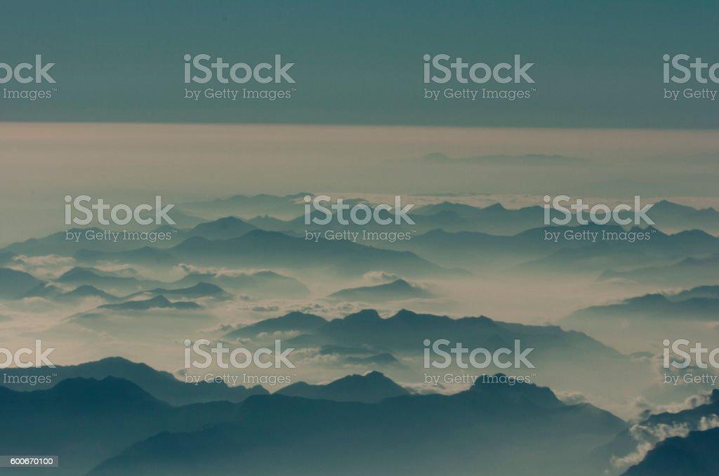 Corfu cloud – cloudscape stock photo