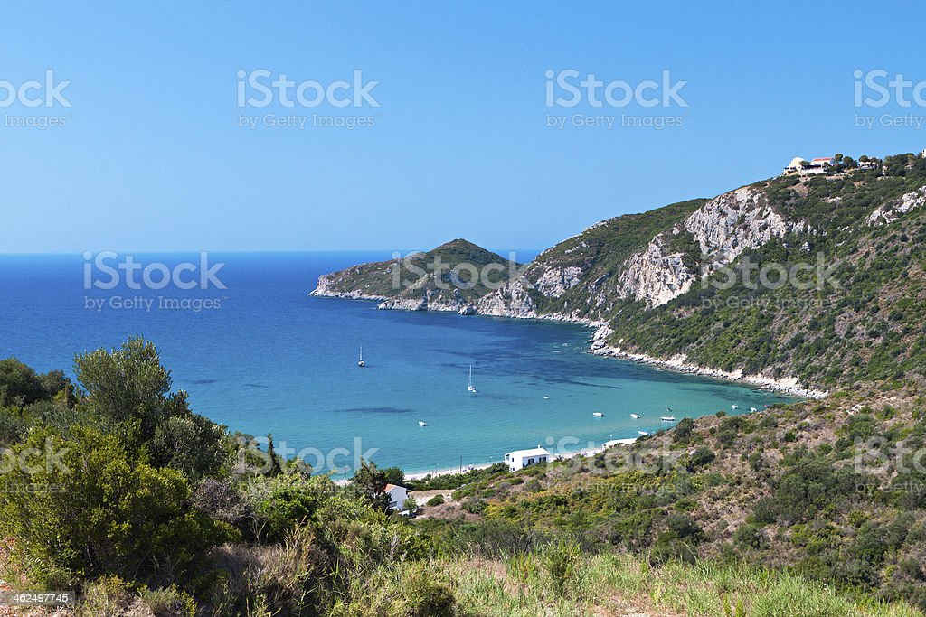 Corfu island in Greece stock photo