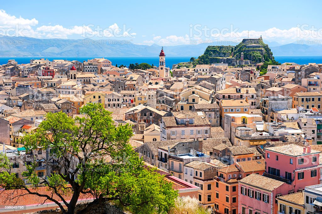 Corfu skyline stock photo