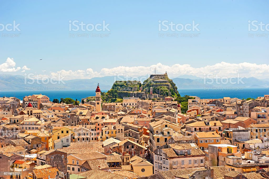 Corfu town, Greece stock photo