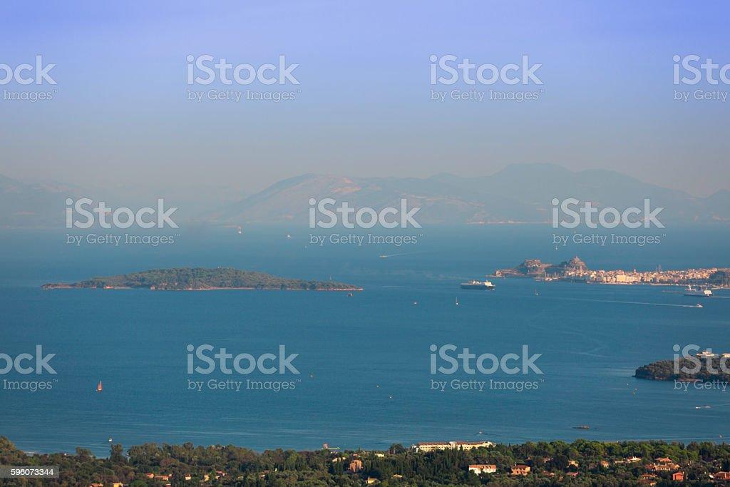 Corfu town panoramic view Kerkyra island Greece royalty-free stock photo